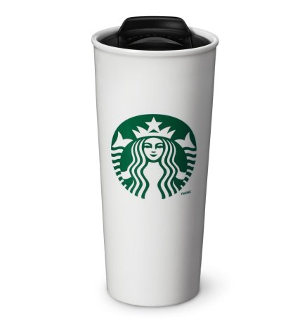 Starbucks Double Wall Ceramic Traveler Coffee Mug - Don't know what to get for mom this Mother's Day? Here are a few Pretty Gifts For Mom on Mother's Day she will love! | OHMY-CREATIVE.COM
