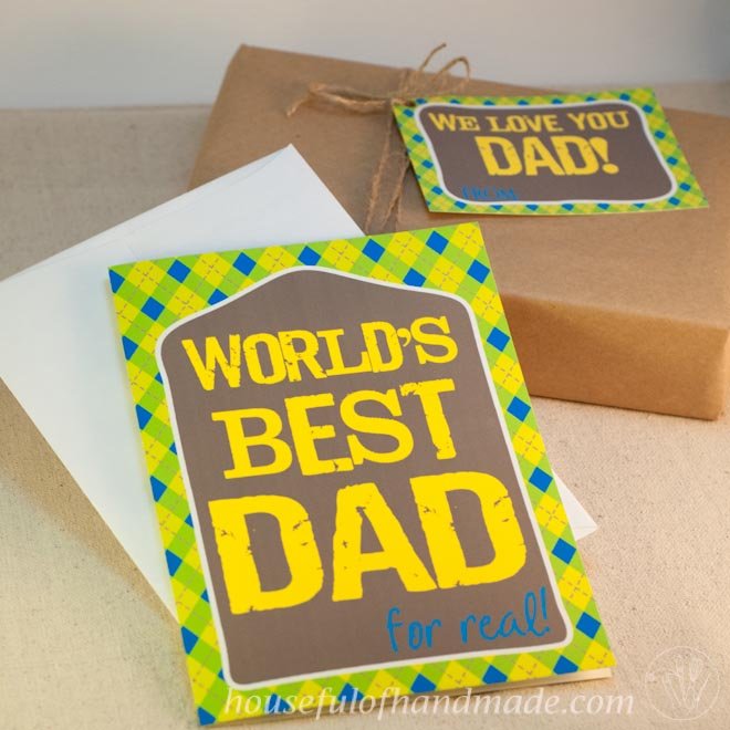 Free printable cards and tags for Father's Day from Housefulofhandmade.com