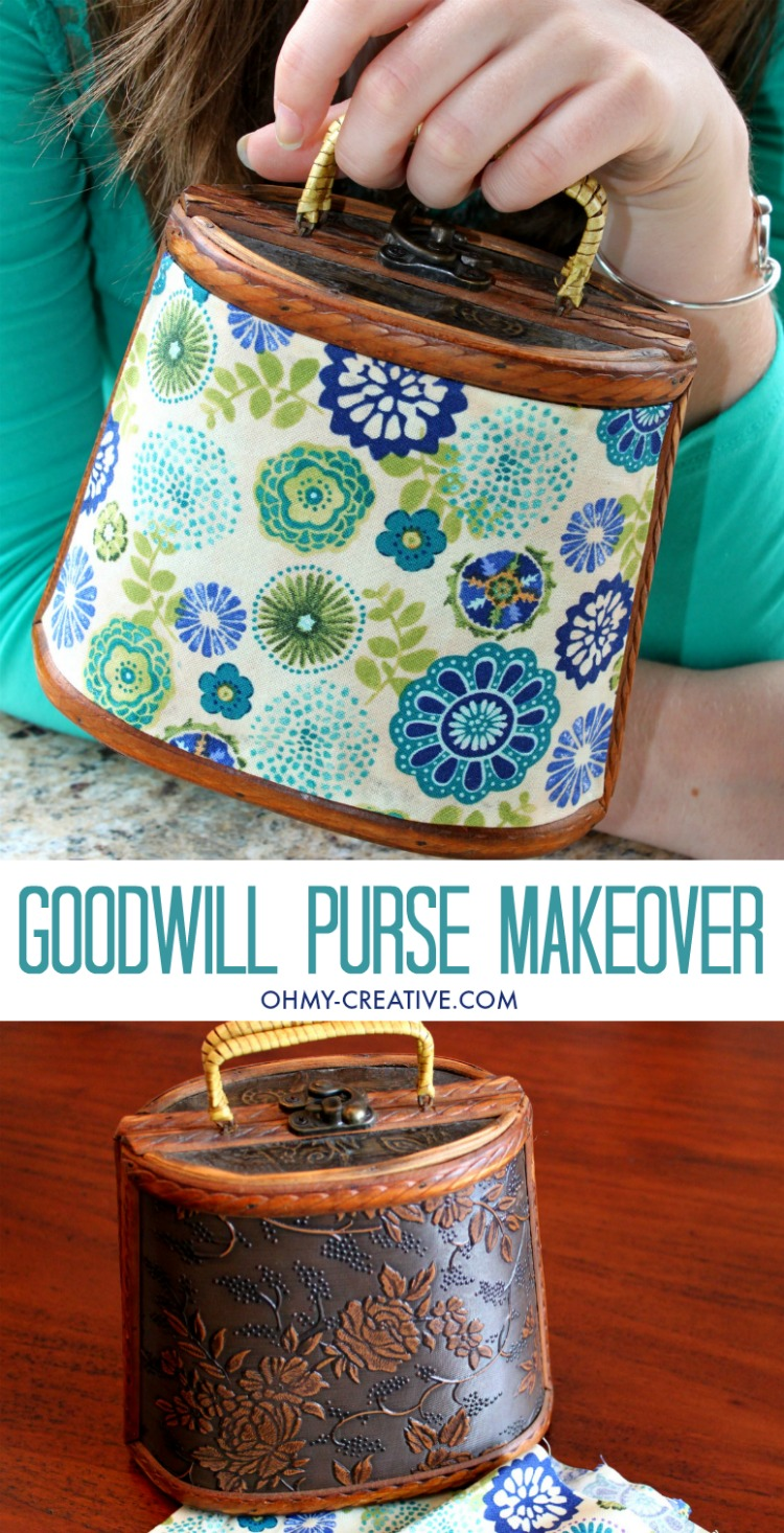 I love a DIY trash to treasure project like this Upcycled Goodwill Purse Makeover - a great Thrift Store Find! It was easy to create this fun fashion accessory with a few extra dollars!     OHMY-CREATIVE.COM