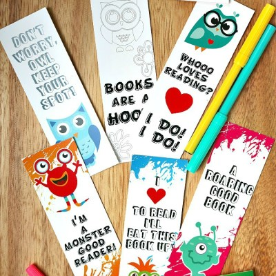 Printable Bookmark Coloring Pages for Kids