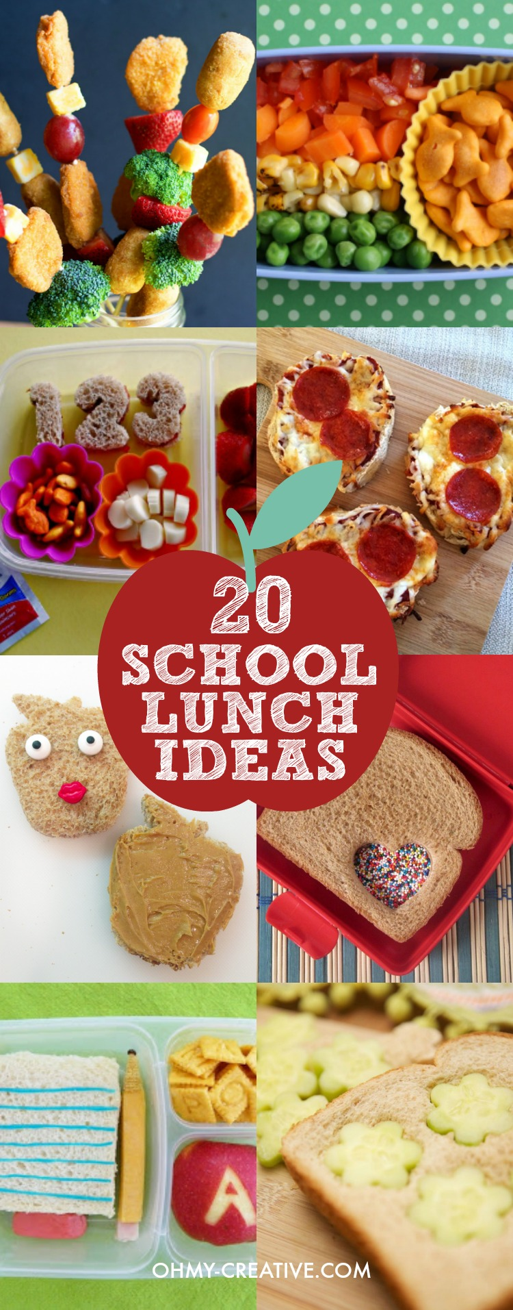 Ideas For Kids Bedroom: 20 Creative School Lunch Ideas For Kids
