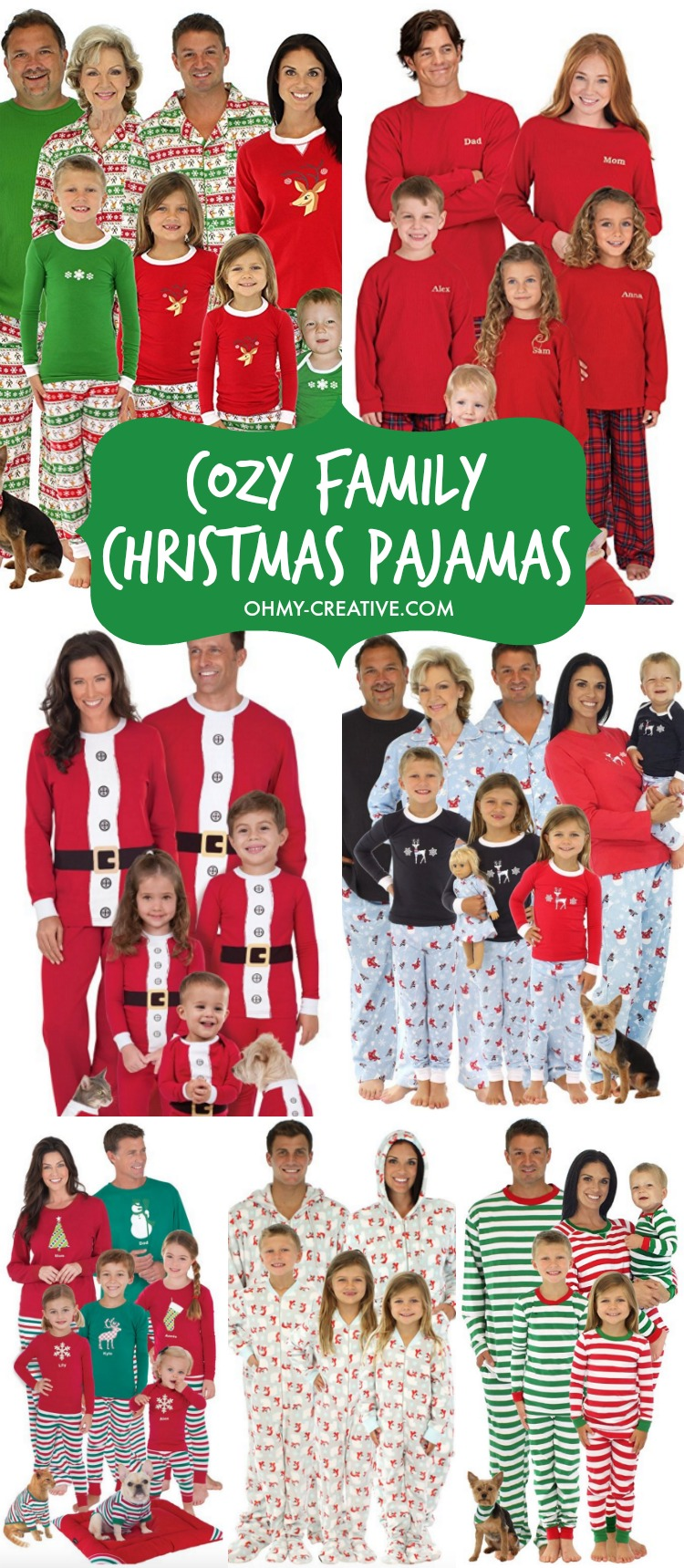 Create a memorable Christmas with these fun Cozy Family Christmas Pajamas. What a great Christmas Eve tradition! Perfect for family Christmas photos too! | OHMY-CREATIVE.COM