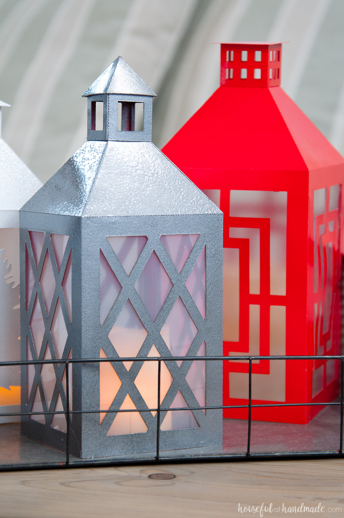 DIY Paper lanterns. Great farmhouse style on a budget! | Housefulofhandmade.com