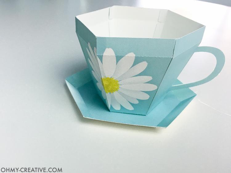 Tea Cup Template Printable | Tea Cup Gift - Oh My Creative