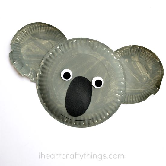 Paper Plate Koala bear craft | 20 PAPER PLATE CRAFTS FOR KIDS | OHMY-CREATIVE.COM | kids crafts | paper plates | preschool crafts | kindergarten crafts | school kids crafts | Under the sea crafts | paper plate animal crafts | rainbow craft | olympics craft | watermelon craft | monster craft | paper craft