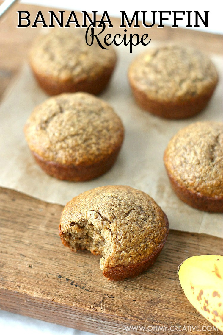 Breakfast Banana Muffin Recipe Oh My Creative
