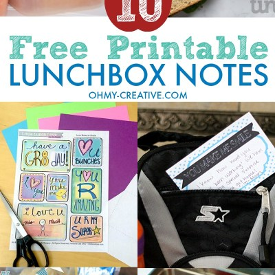 10 Free Printable Lunchbox Notes