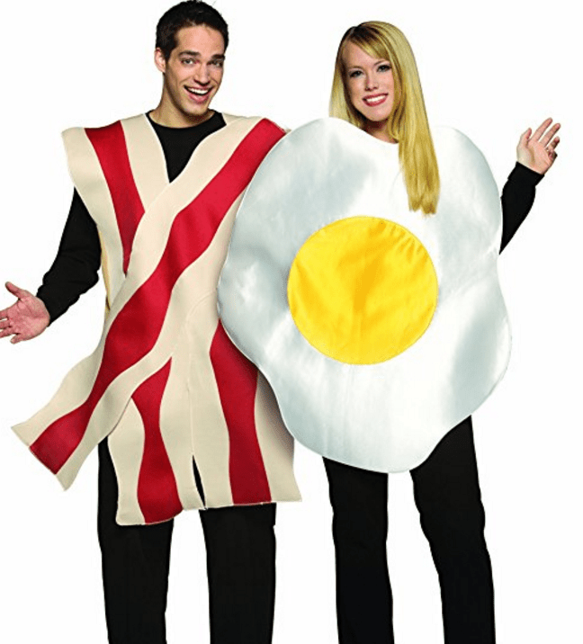 Bacon and Eggs Couples Costume | 50 Couples Halloween Costume Ideas