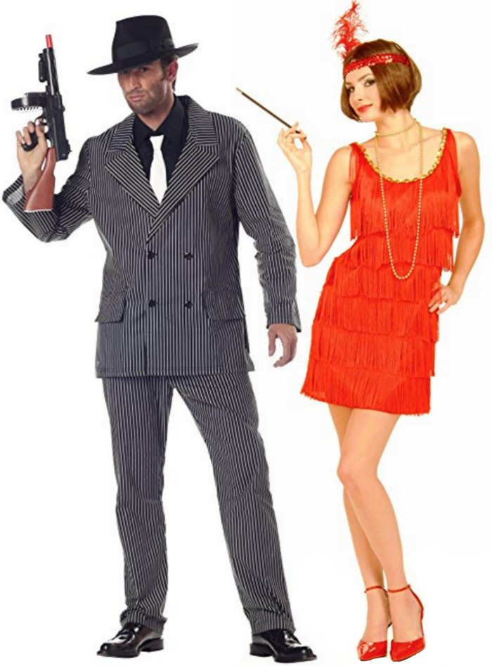 gangster roaring 20s couples costumes 50 couples halloween costume ideas