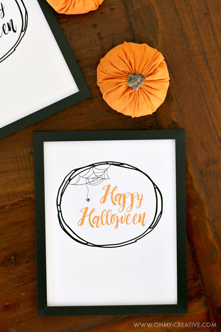 picture about Happy Halloween Signs Printable identified as Content Halloween Free of charge Halloween Printables - Oh My Resourceful