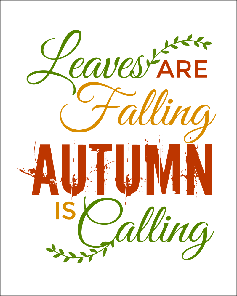 graphic regarding Free Printable Quotes and Sayings referred to as Tumble Estimates Totally free Printables For Autumn - Oh My Resourceful