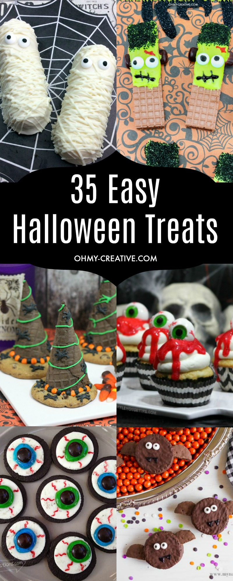 OHMY-CREATIVE.COM | Easy Treats | Treats for Kids | Easy Halloween Activities | Easy Halloween Treats | Fall Desserts | Halloween Desserts | Fall Treats for Kids | Easy Fall Recipes | Simple Fall Desserts |