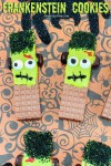 Frankenstein Cookies For Halloween | OHMY-CREATIVE.COM | Halloween Cookie Ideas | Halloween Cookies | Cute Frankenstein | Frankenstein's Monster | Green Frankenstein | Halloween Party Treats | Halloween School Treats