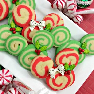 Mickey Christmas Swirl Cookies