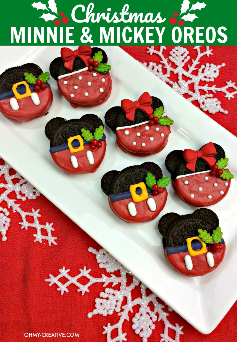 Christmas Minnie And Mickey Mouse Oreos