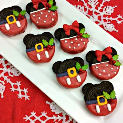 Christmas Minnie And Mickey Mouse Oreos
