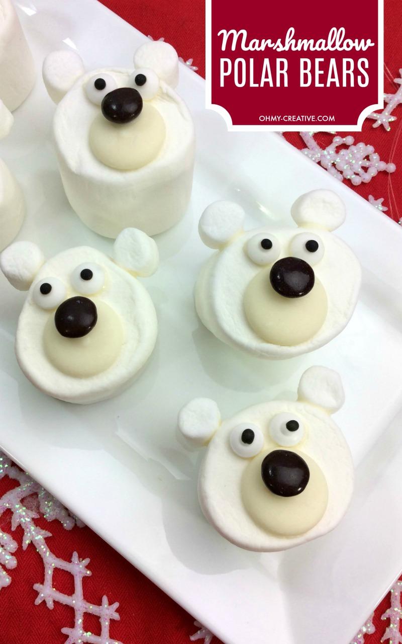 Marshmallow Polar Bear Craft Treats