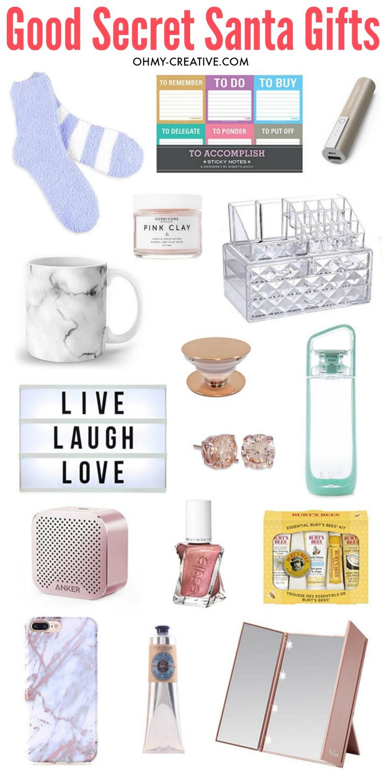 Good Secret Santa Gifts | OHMY CREATIVE.COM Best Secret Santa Gifts | Cheap