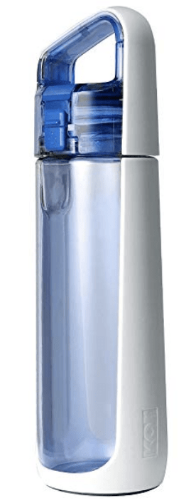 Blue and white bpa free travel water bottle - a stylish gift