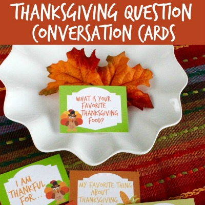 Free printable Thanksgiving Question conversation cards