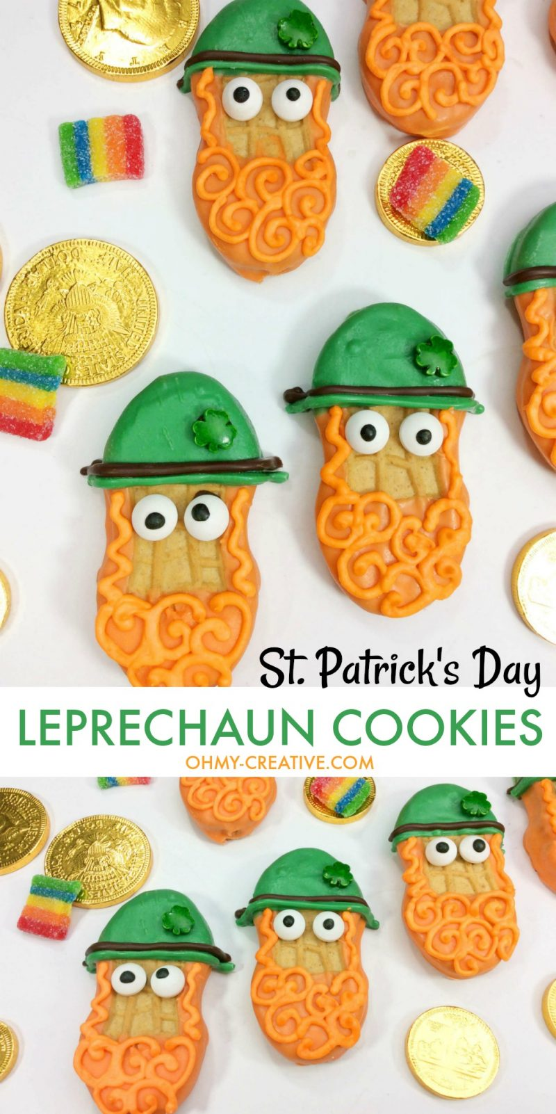Leprechaun Treats | OHMY-CREATIVE.COM | Leprechaun Cookies | St. Patrick's Day Cookies | St. Patrick's Day Treats | Leprechaun Ideas | Leprechaun For Kids