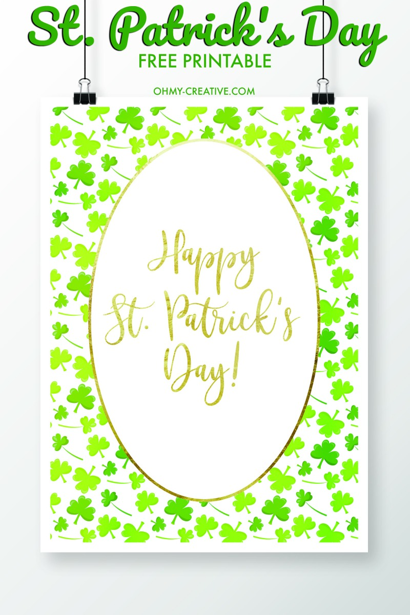 St. Patrick\'s Day Sayings Free Printables - Oh My Creative