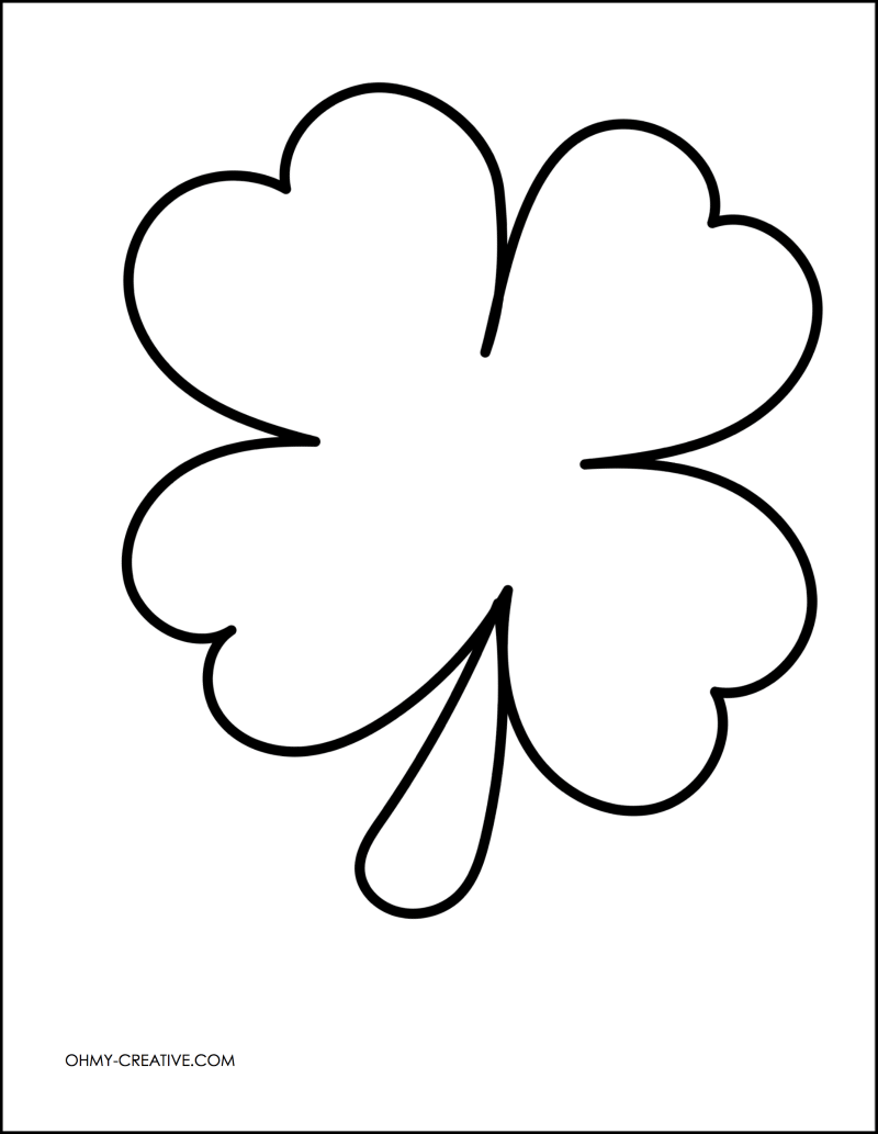 Gallery of 5 best images of printable shamrock cutouts