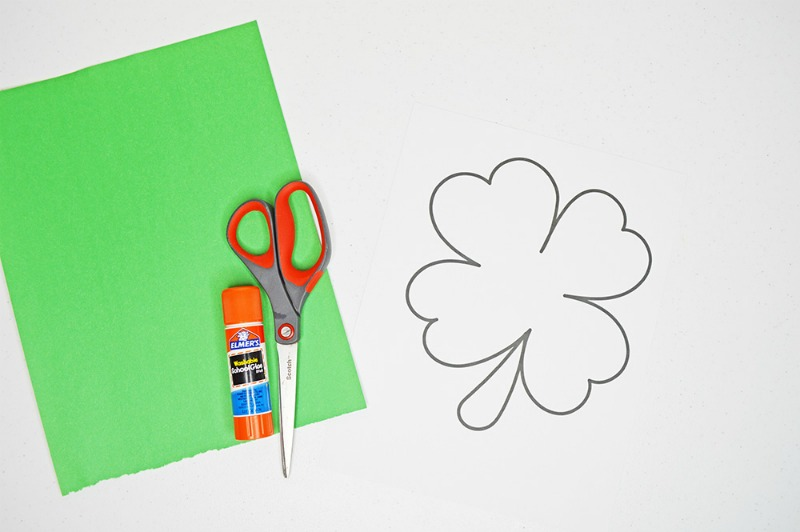 Shamrock Template | Cut And Paste Shamrock Template Or Coloring Page Oh My Creative