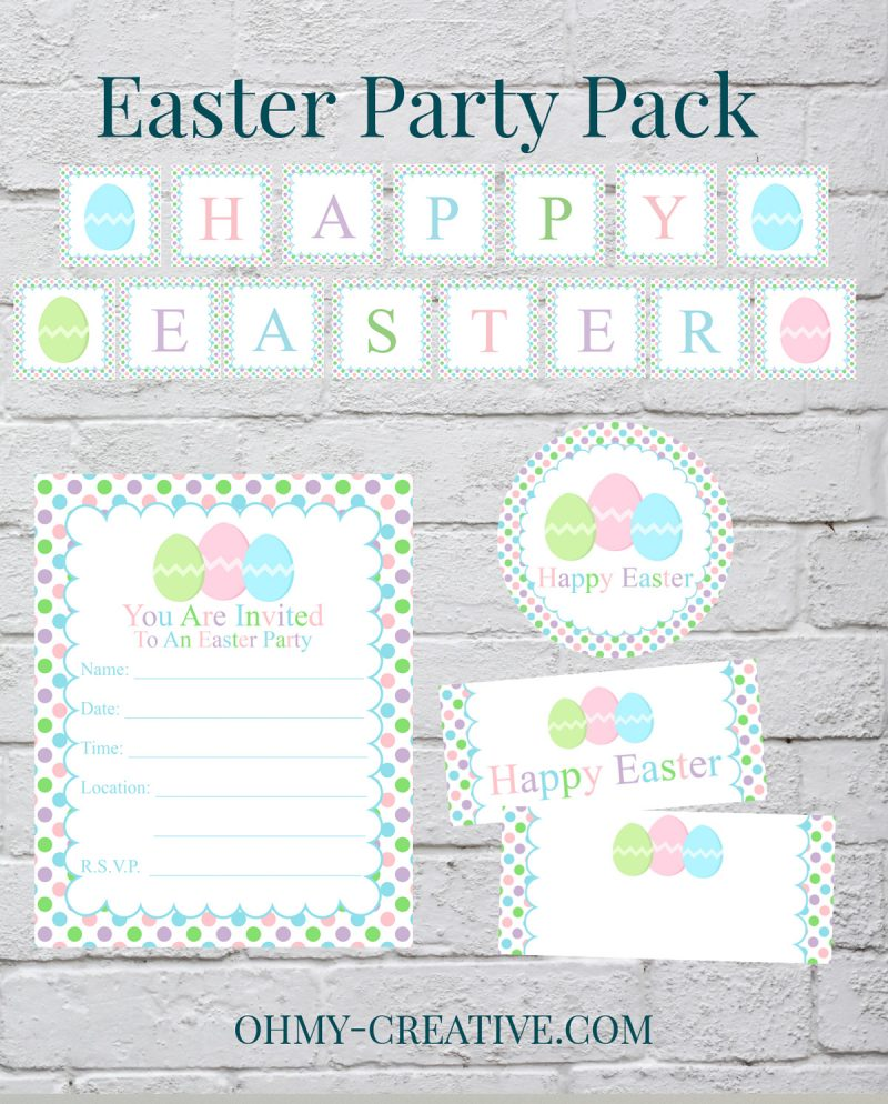 picture relating to Happy Easter Banner Printable known as Free of charge Easter Occasion Decorations Printables - Oh My Inventive
