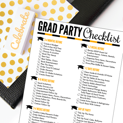 Free Printable Graduation Party Checklist