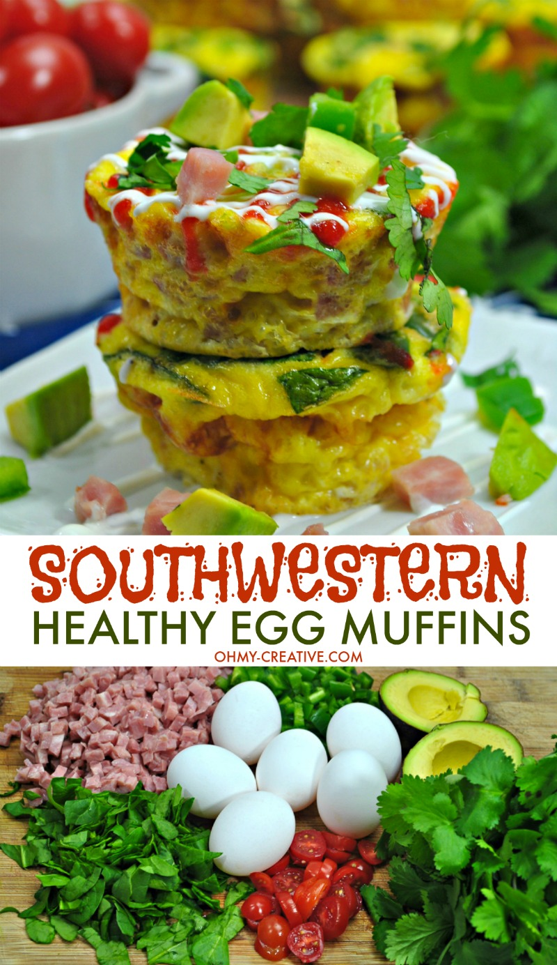 Southwestern Healthy Egg Muffins from OhMy-Creative.com