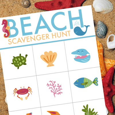 Beach Scavenger Hunt Free Printable