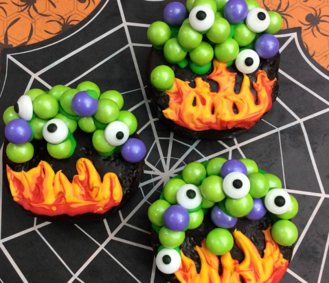 Make our Witches Cauldron Semi-Homemade Halloween Treats as a great dessert for your Halloween buffet table