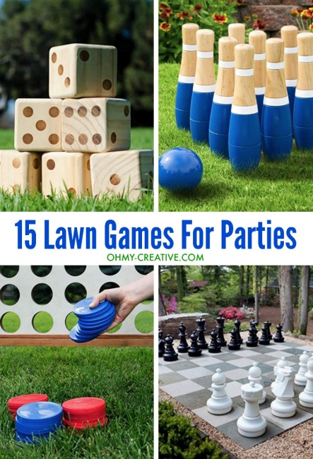 Ideas for large yard party games