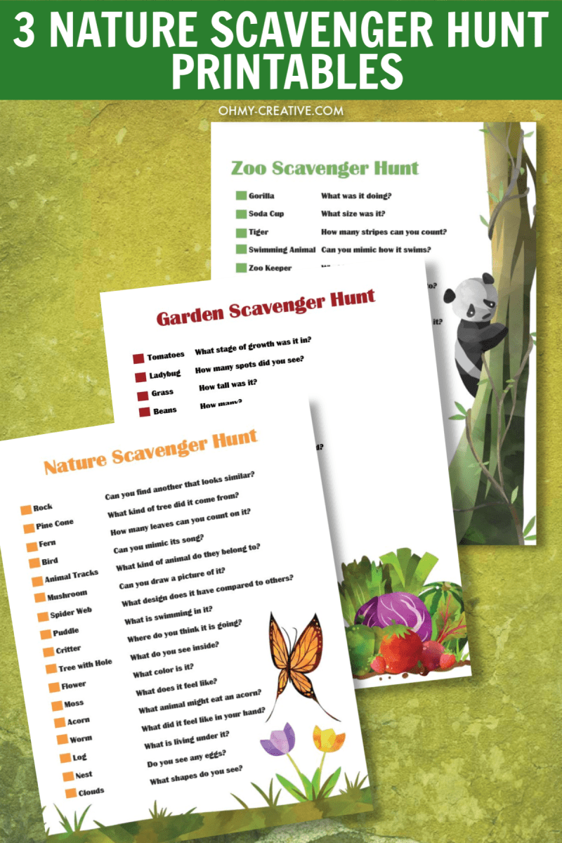 photograph about Printable Nature Scavenger Hunt identified as Exciting Character Scavenger Hunt Printables For Young children - Oh My Resourceful