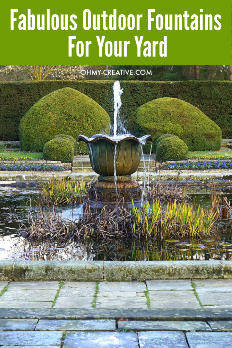 17 fabulous outdoor fountains for your