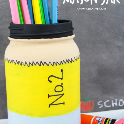 Pencil Mason Jar Craft – Cute Way to Store Pencils