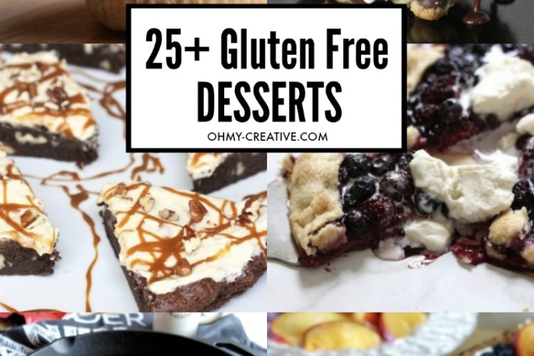 a collage of gluten free desserts that are incredibly tasty