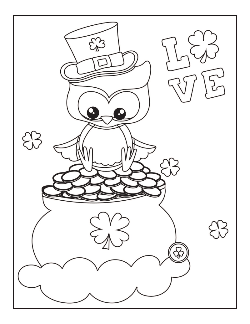 Printable Owl Valentine Cards to Color - Get Coloring Pages | 1035x800