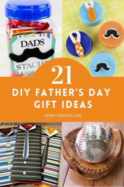 Collage of easy DIY Father's Day Gift ideas.
