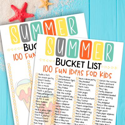 100 Summer Bucket List Ideas And Printable List