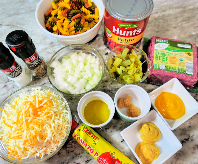 These simple ingredients make the most delicious cheeseburger casserole!
