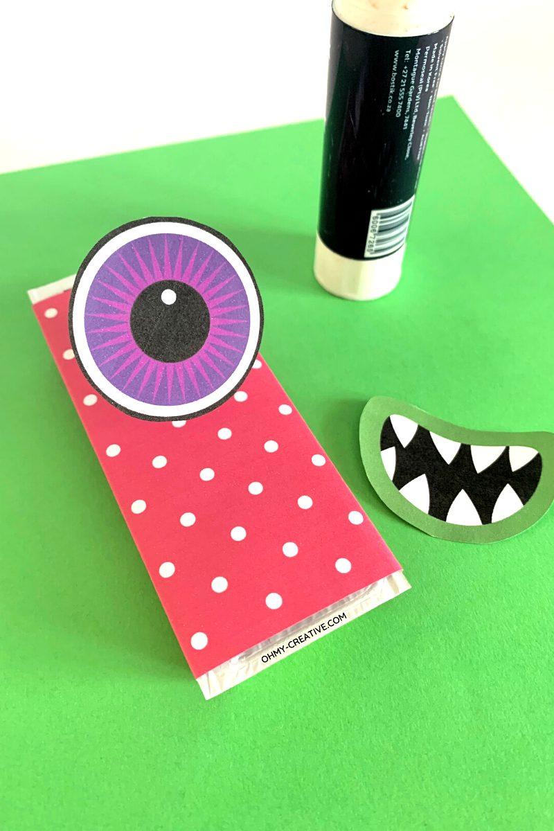 monster Halloween Candy Bar Wrapper supplies.