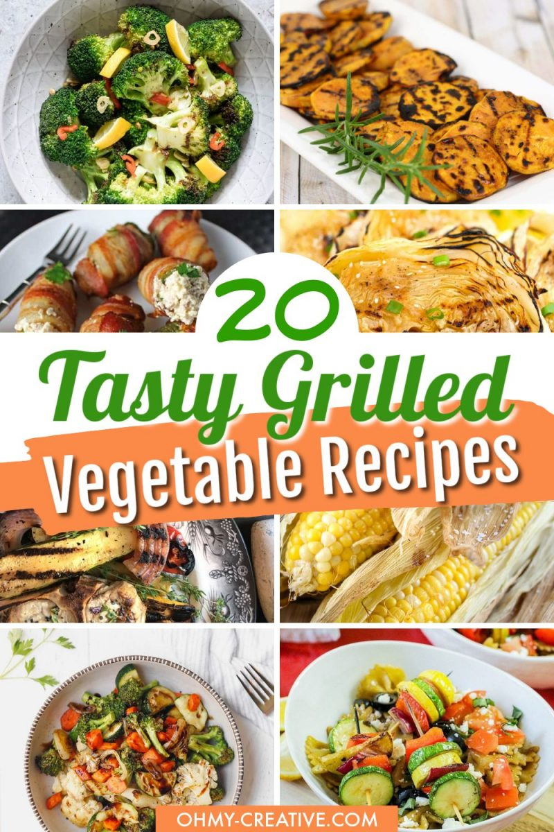 20 grilled vegetable recipes - a collection of great grilled veggie recipes for the family!