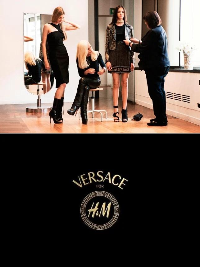 Parceria Donatella Versace H&M Teaser