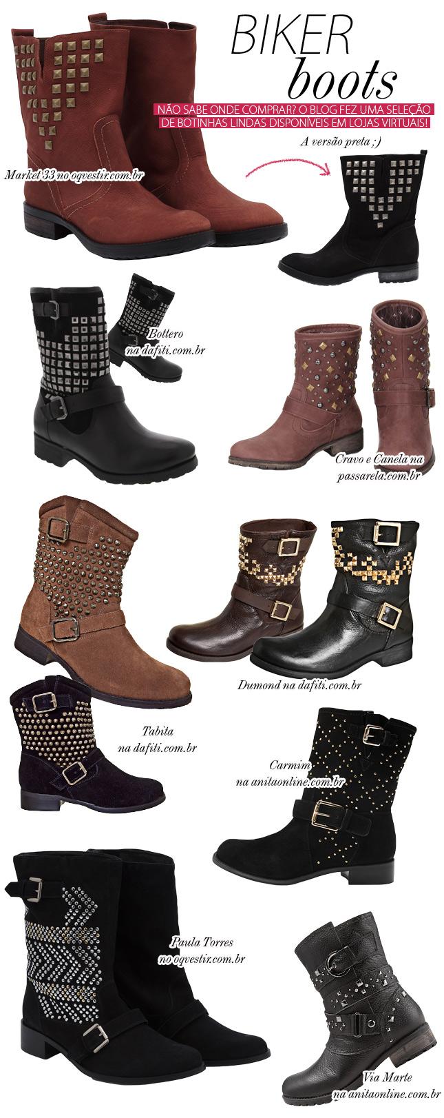biker boots blog de moda onde comprar dica loja virtual anita online oh my closet dafiti oqvestir passarela botinha inverno 2013