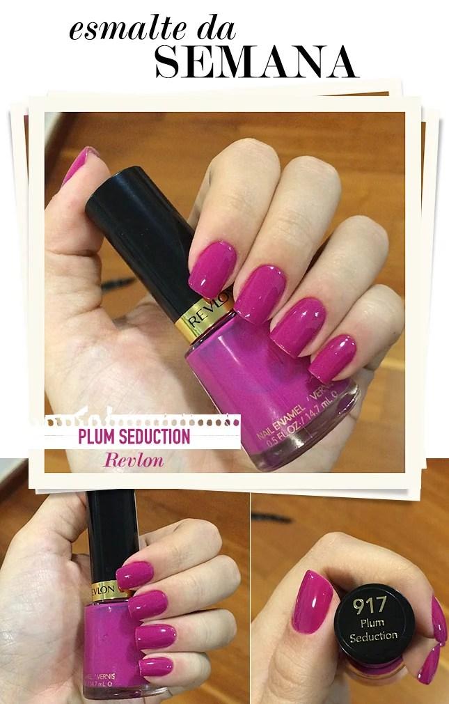 plum seduction esmalte da semana blog de moda oh my closet fhits revlon esmalte cor rosa moda verao 2015