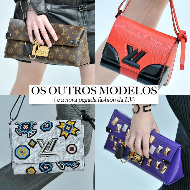 A Louis Vuitton apresentou vários modelos novos de bolsas.