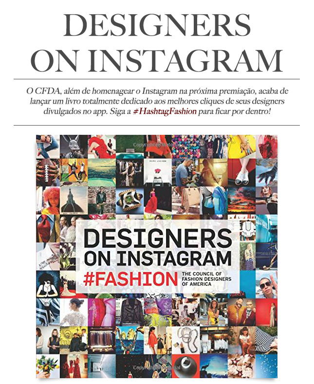 Designers on Instagram, o novo livro do CFDA.