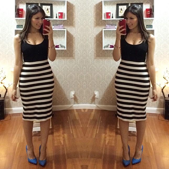 Look Inspiração: Mônica Araújo com vestido Zara!